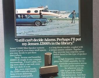 1981 Jensen J2000 Mini-Speaker System Print Ad