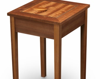 PRICE REDUCED!  Mahogany Side table with Leaf inlay