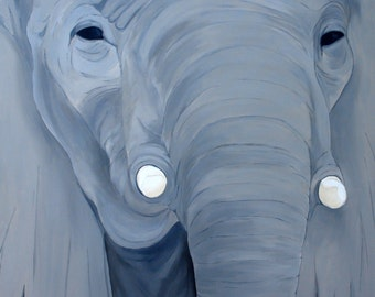 Elephant serie - No.. 2 - Acrylic - 36 x 36 in.
