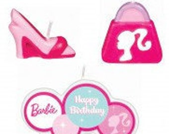 Barbie ''All Doll'd Up''  Cake Candle Set 4ct