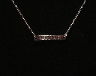 Silver Mermaid Bar Necklace