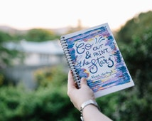 Go Out Paint The Stars Van Gogh - A5 Artist Spiral Notebook - 120 Pages Ruled Line or Graph Paper