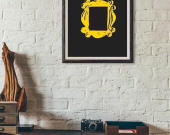 friends tv yellow door frame wall decor art fan poster