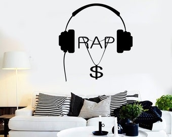 Wall Vinyl Music Hip Hop Rap Songs Money Guaranteed Quality Decal Mural Art 1562dz