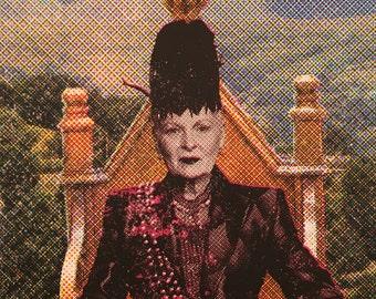 Limited Edition Four Colour CMYK 'Viv Tryptch' Vivienne Westwood Portrait Screen Print