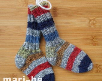 Socks / stockings in washable wool 4 1/2 inches or 11.5 cm