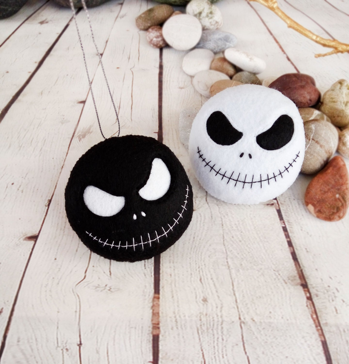 Halloween decoration jack skellington spooky felt toy - Jack skellington decorations halloween ...