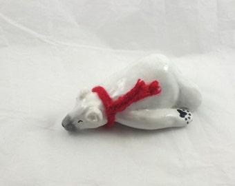 Sleeping Polar Bear Totem