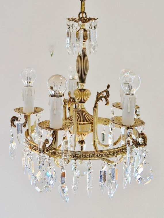 On Hold For Jasmine B Crystal Chandelier And 2 Wall Appliques