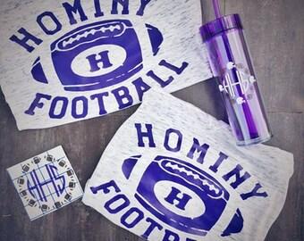 Hominy Football - Vintage Inspired Tee