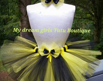 Bumblebee tutu and matching clip bow