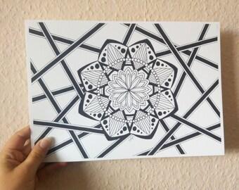 Mandala II, mandala art print
