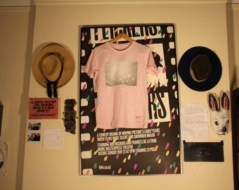 Pink T-Shirt with Balloon Silk Screen