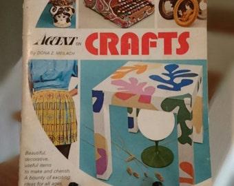 Vintage 1970 Craft Book/ Accent Craft Book