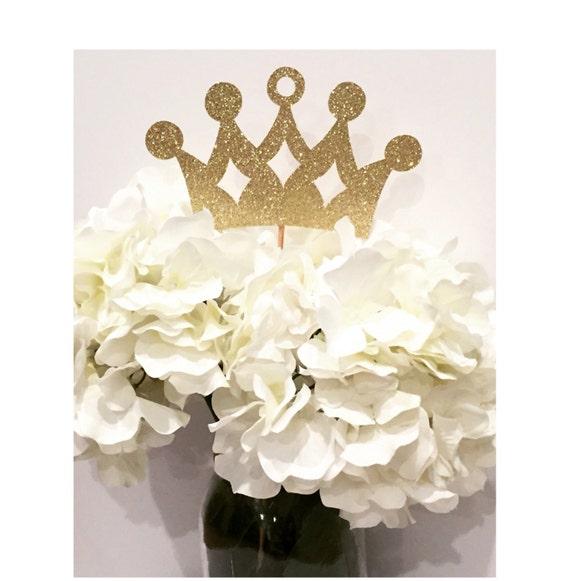 Gold princess crown centerpiece set of