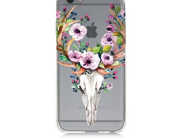 iPhone 7 Clear Case - Flowers - Protective TPU cover for iPhone 7 - 7 plus - iPhone 6s -  6s plus - Samsung Galaxy s5 s6 s7 Note 7