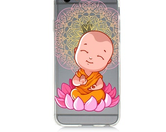 iPhone 7 Clear Case -Little Buddha-Protective TPU cover for iPhone 7 - 7 plus - iPhone 6s -  6s plus - Samsung Galaxy s5 s6 s7 Note 7
