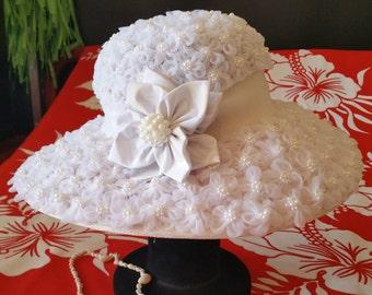 White Floral Ladies Hats