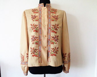 Embroidered blouse, Bulgarian embroidery, Embroidered folk blouse, Peasant blouse, National clothes, national costume, Garb, Size S/M
