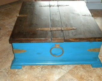 Rustic pine coffee table/chest