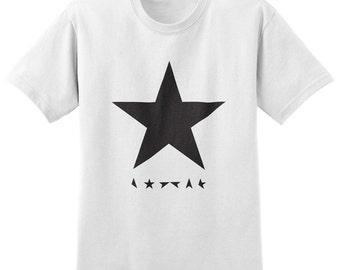 David Bowie Blackstar T-shirt - Stardust, Ziggy Stardust, Star, Music, Band Shirt, Mens Womens Ladies T Shirt Tee