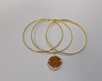 Jade  Gold Plated Bracelet
