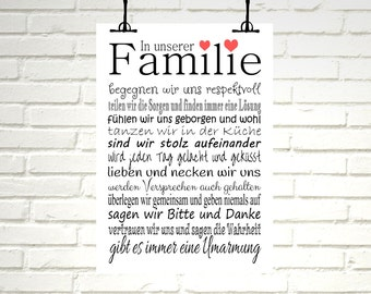 "Print / Druck ""in our family"""