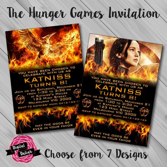 DIY Personalized Printable Hunger Games Invitations For A