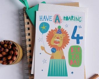 Age 4 Birthday Greeting Card