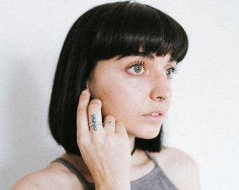 Turquoise Bar Ring, modern bohemian, southwest fashion, everyday ring for her, modern southwest, festival fashion, free people, uo, boho