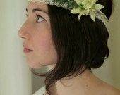Wedding wreath head piece for bride or bridesmaid, Boho chic, Vintage style romantic. Wedding hair accessories.