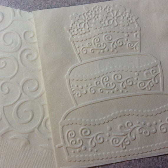 Wedding Napkins Embossed Paper Napkin Wedding