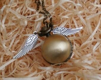 Harry Potter Golden Snitch Bronze Pocket Watch