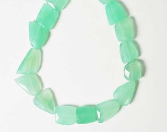 Expensive Handcrafted Giant Aquamarine Green Crystal Necklace