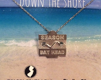 Bay Head - Jersey Shore Sterling Silver Beach Badge Necklace