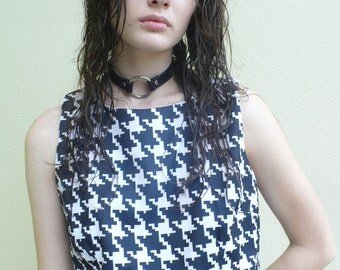 Hounds tooth crop top