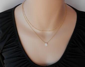 Rainbow gold moonstone necklace june birthstone necklace natural gold moonstone choker genuine moonstone bar necklace moonstone jewelry