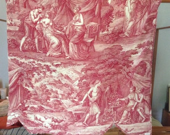 Antique French Toile Fragment Circa 1810