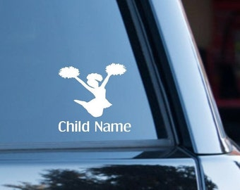 Car decal, Cheerleader, Personalized decal, Sports, Computer decal, Decal