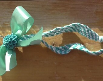 Keychain Turquoise Flower
