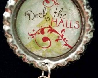 Deck the Halls Bottle Cap Necklace