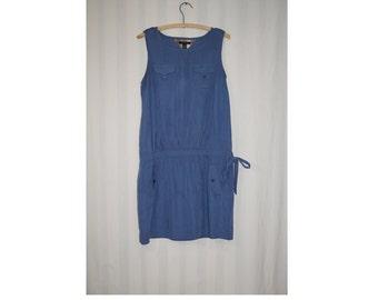 Vintage Tommy Hilfiger dress / 90's style dress / BOHO dress / Summer Dress / Tunic dress / Sky Blue Dress