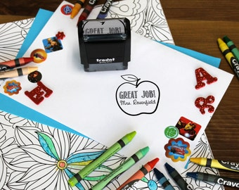 Great Work Stamp, Teacher stamps, Self Inking Stamp, Gifts for teachers, Teacher Appreciation Gifts, Teacher  --SI-400RC-ROSENFIELD