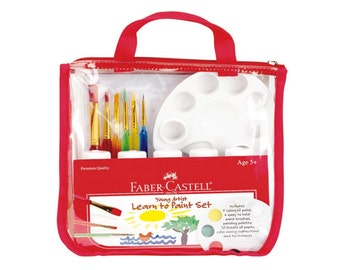 Kids Painting Set, Faber Castell | Kids Gift Set | Childrens Paint Set | Kids Art Kit, Kids Art Set | Learn To Paint | Art Supplies For Kids