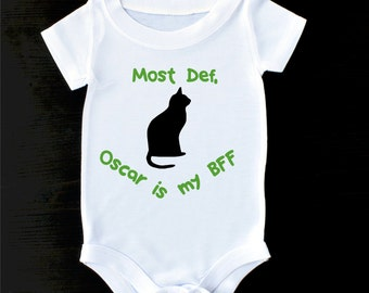 Cat Baby Shirt or Gerber Baby Onesie® BFF Onesie® Pet and Baby Gift Pet and Baby Personalized Onesie® Cat Onesie® Cat and Baby Sibling Shirt