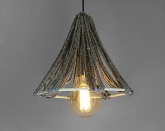 Rope Lighting - Scandinavean Pendant Light - Decor Lighting - Ceiling Lamp - Hanging Lighting - Vintage Lamp - Droplight - Lighting Fixtures