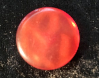 BS0007 Orange/Red Shimmery Button Bag of 10