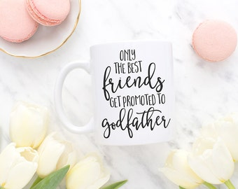 Only the best friends get promoted to godfather, God father gift, Baptism gift, Confirmation gift, Baptism gifts for godparents, MC133