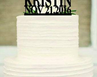 God Bless Cake Topper, Baptism Gift, Monogram cake topper, baptism cake topper, personalized custom god bless cake topper