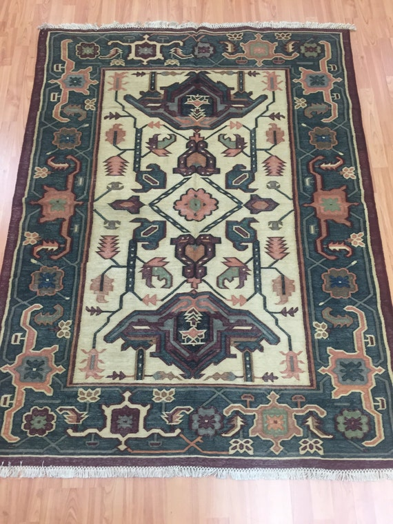 "4'6"" x 6' Turkish Kilim (Kelim) Oriental Rug - Hand Made - 100% Wool"